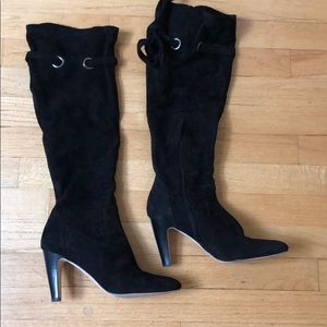 Cole Haan Black Slouchy suede boots